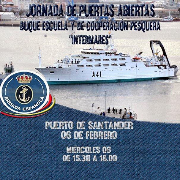 Santander Puertas Abiertas Buque Escuela y de Cooperación Pesquera Intermares