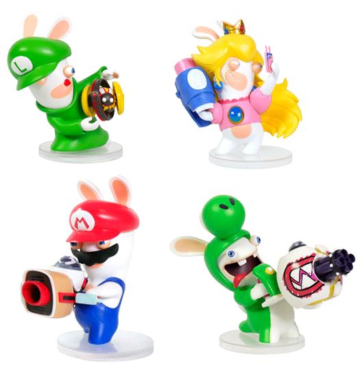 Figuras Rabbids Luigi, Peach, Yoshi y Mario (recoger en tienda)