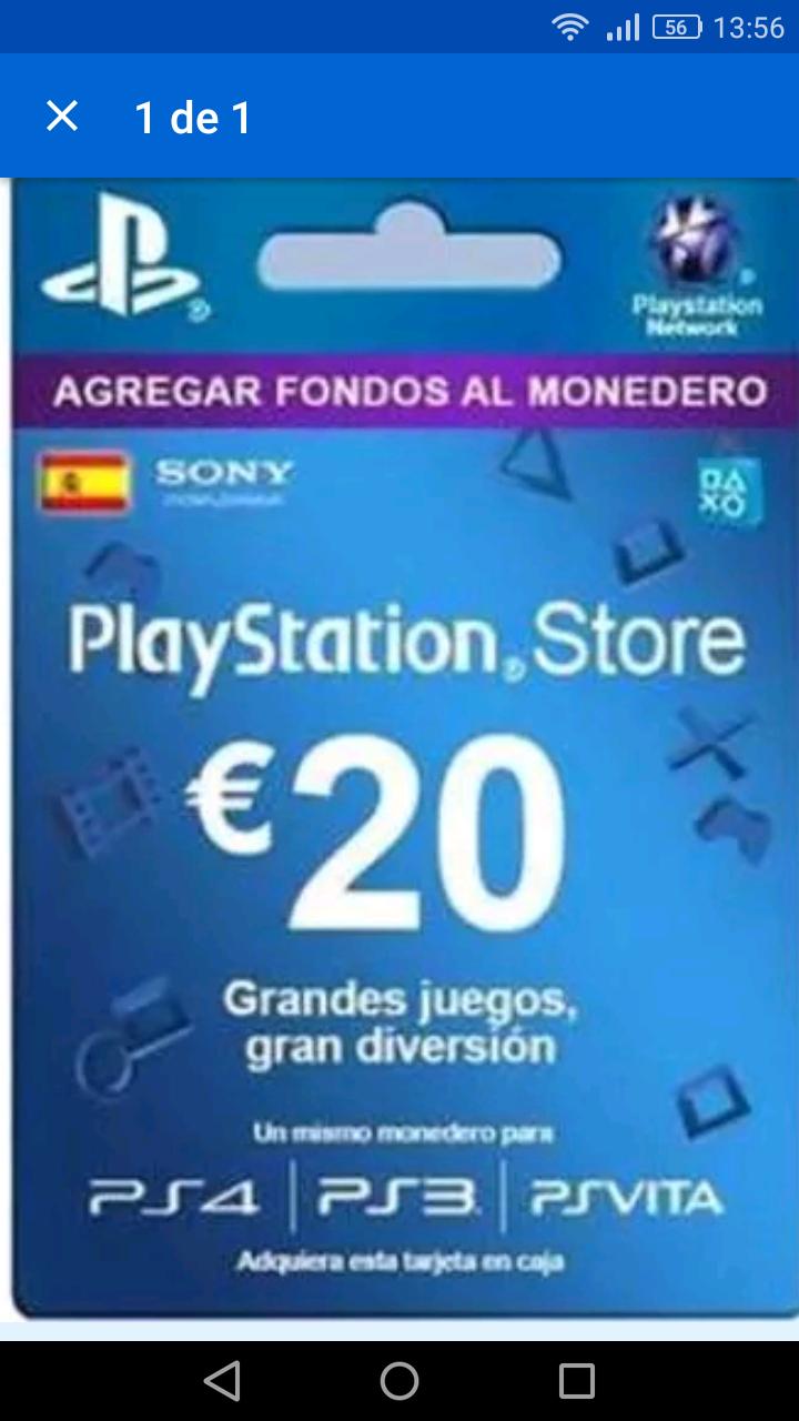 Tarjeta psn 20€ por 15,80,duros por pesetas!!!
