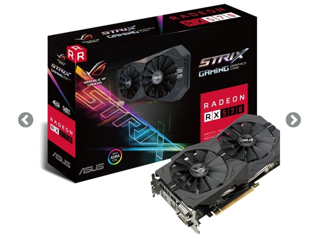 Asus Radeon ROG Strix RX 570 OC 4G Gaming 4GB GDDR5
