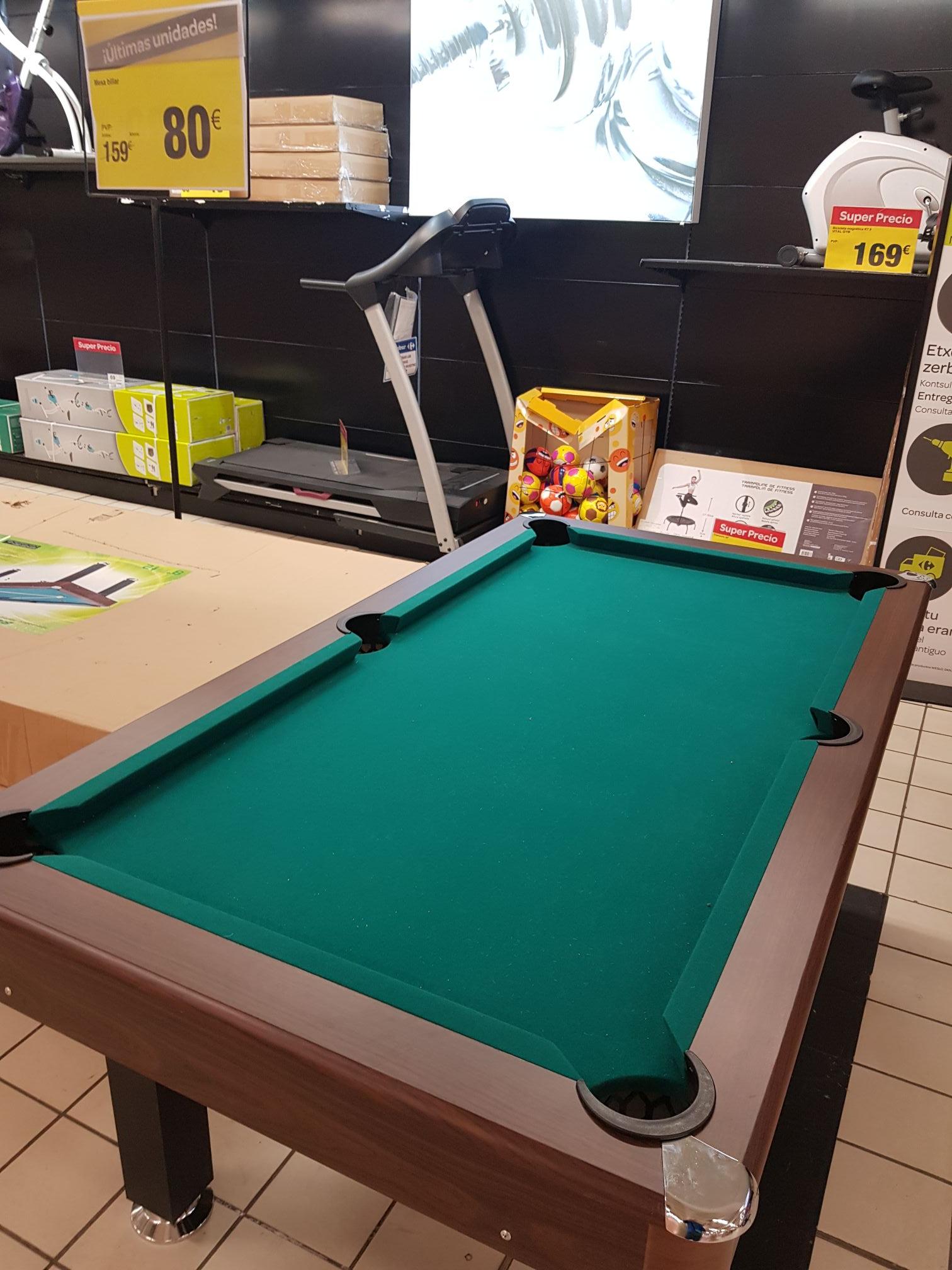 Mesa de billar aún más barato en Carrefour Erandio