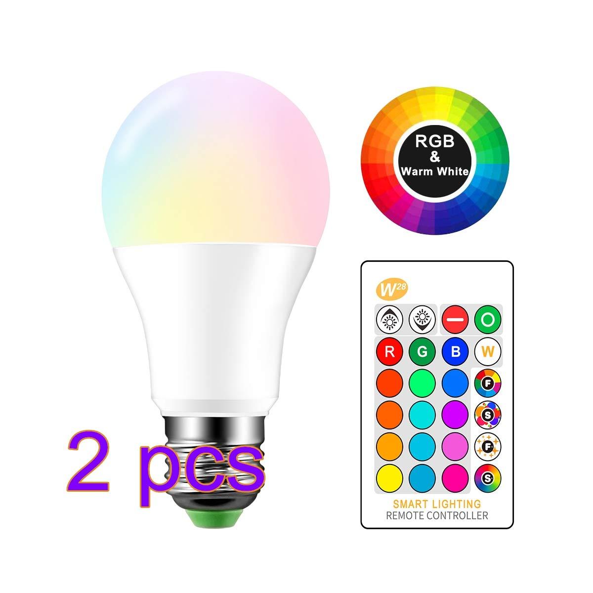 Pack de 2 bombillas RGB personalizables de 10w a precio unitario!