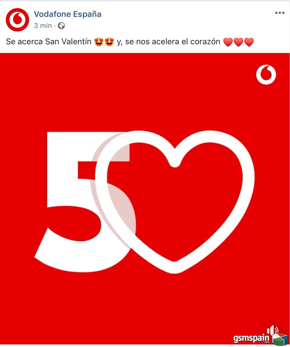 ¡Vodafone regala 50 GB de datos para San Valentín!