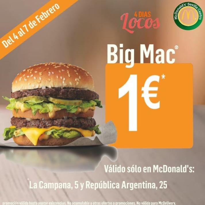 MCDONALD - BIG MAC 1€ (Solo en Sevilla)