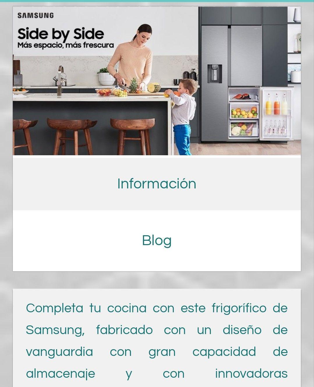 Campaña de frigoríficos de Samsung RS8000 Side by Side