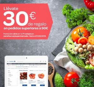 30€ de regalo para compras de 90€ online