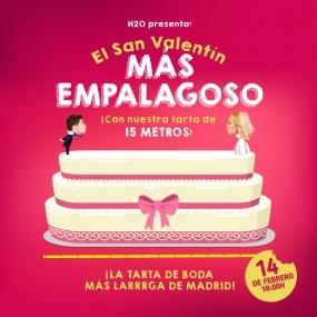 ¡100kg de tarta GRATIS en San Valentín en el centro comercial H2O Madrid!