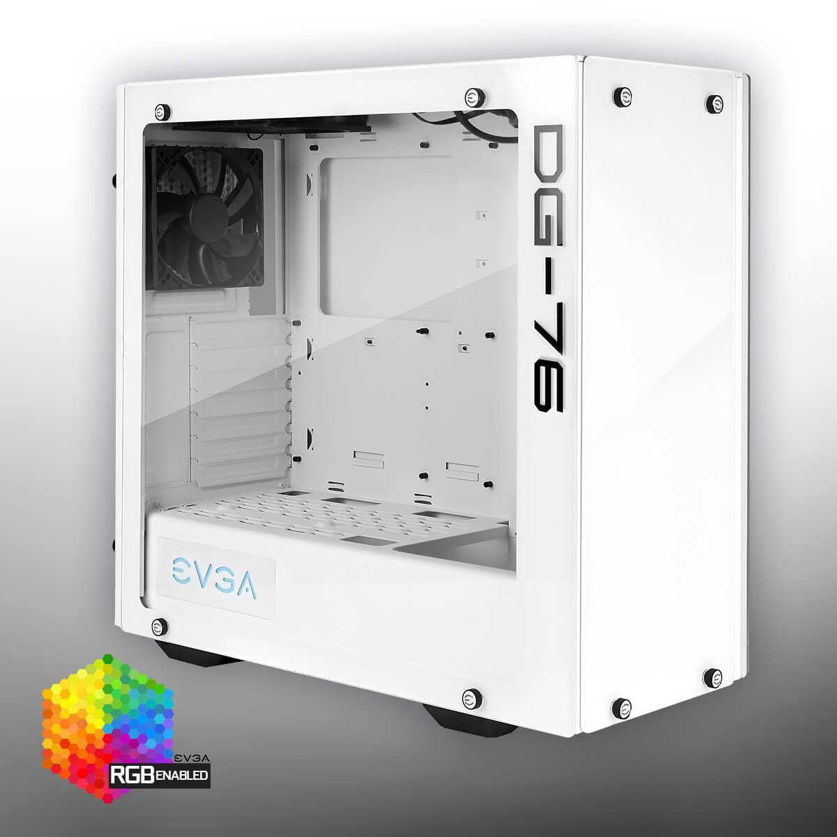 EVGA DG-76 Cristal Templado Blanco - Caja/Torre