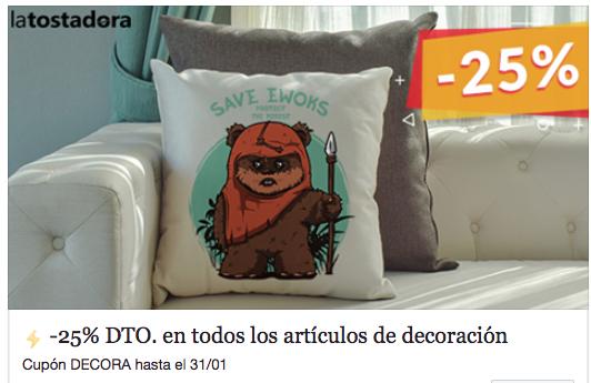La tostadora -25% DTO. en todos los artículos de decoración: Cupón: DECORA