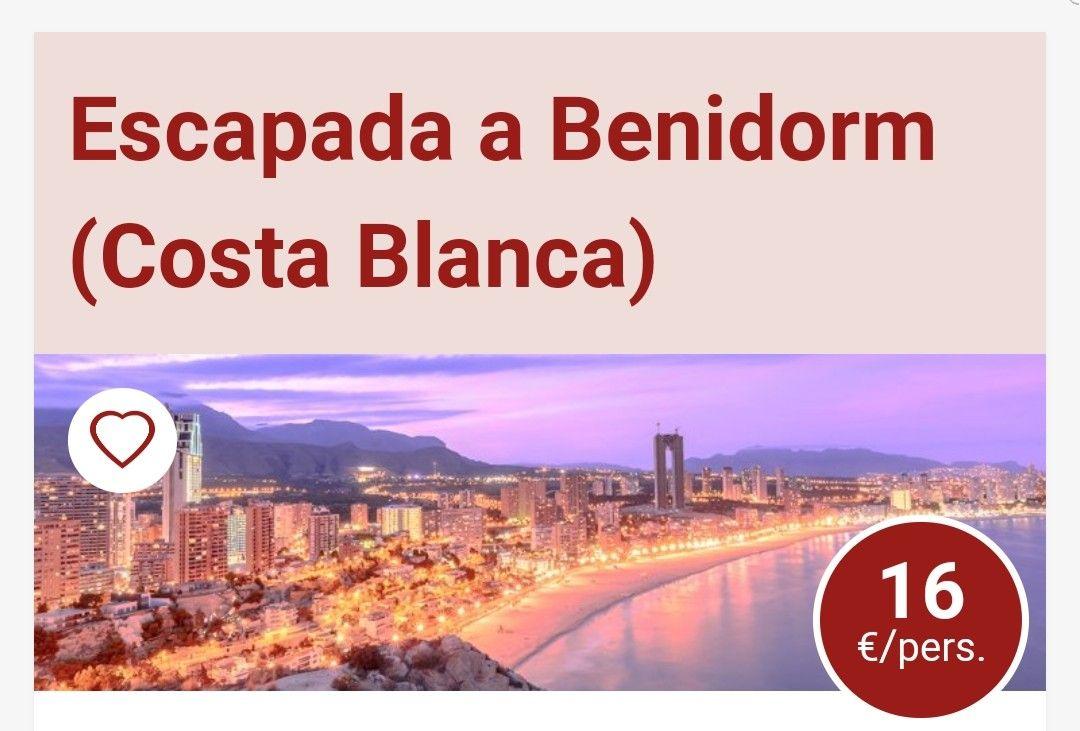 ESCAPADA A BENIDORM DESDE 16€ PERSONA Y NOCHE HASTA JUNIO INCLUÍDO.