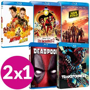 promoción 2 X 1 en Pelis Blu-Ray en Game