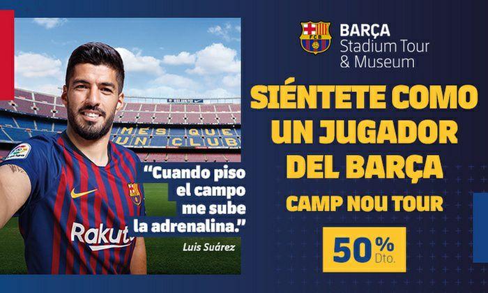 Entrada al Tour Camp Nou al 50%