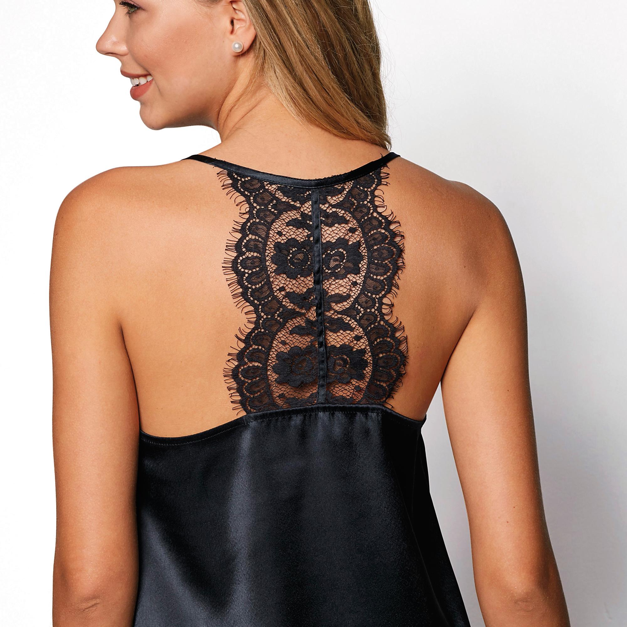 Top finos tirantes y espalda con pieza de encaje mujer by Venca Style