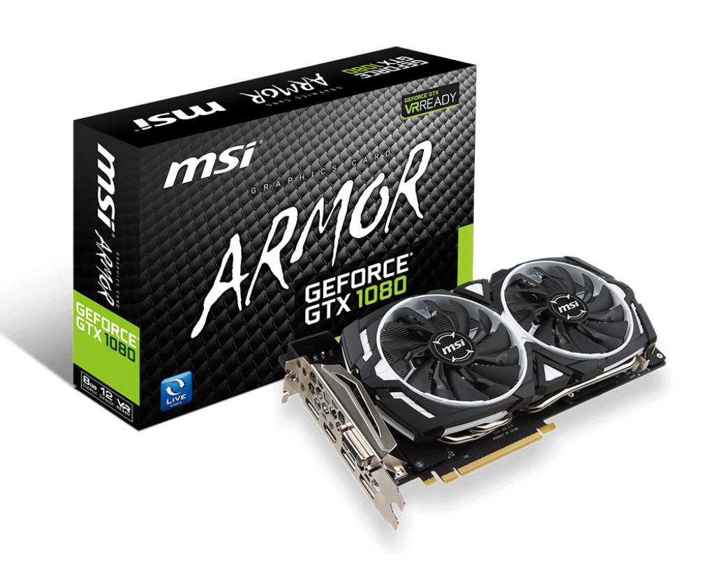 MSI GeForce® GTX 1080 ARMOR 8G 8GB GDDR5X - Reacondicionado