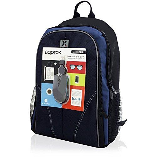 "Mochila para portátil de hasta 15,6"" + ratón óptico USB"