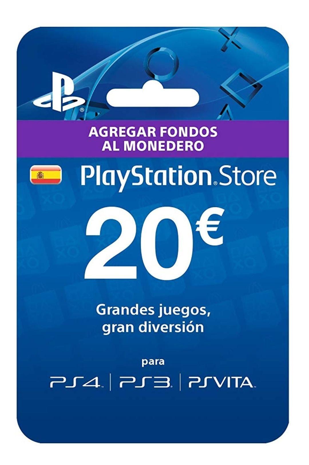 Tarjeta de 20€ Playstation Plus por 17€ desde Amazon