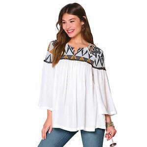Blusa escote redondeado cerrado con botones metálicos mujer by Venca