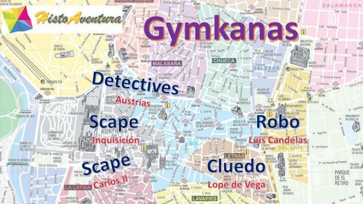 Gymkanas tipo escape room gratis solidario en Madrid