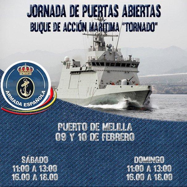 Puertas Abiertas Buque Armada Tornado en Melilla