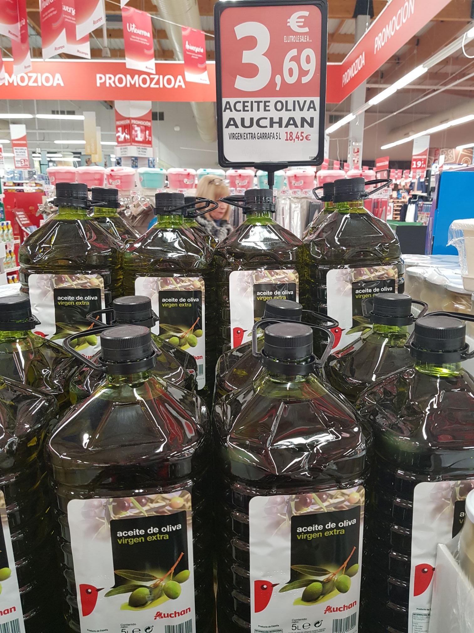 Aceite de oliva virgen extra Auchan , Alcampo de Mungia