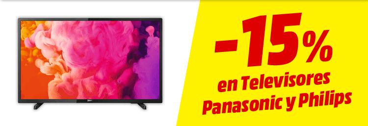 -15% en todos los televisores Panasonic y Philips