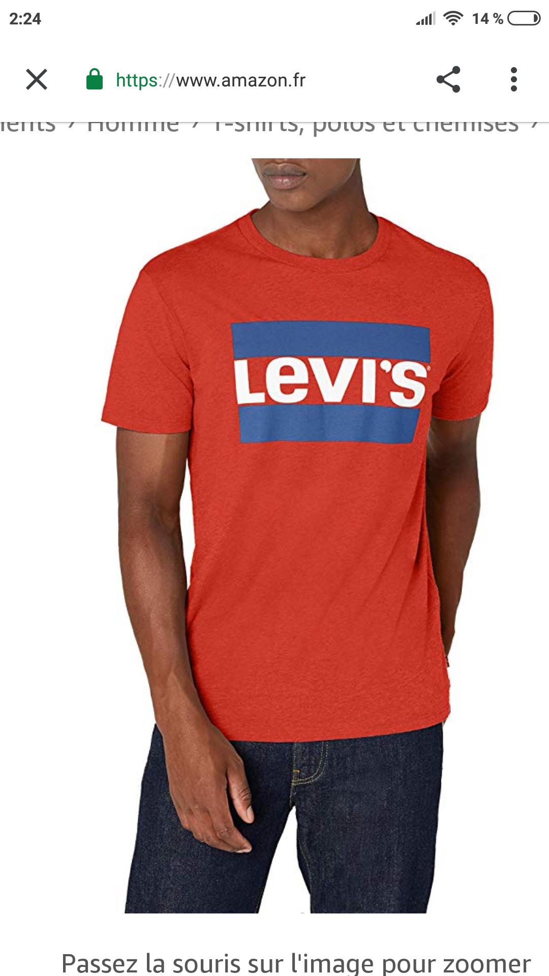 Levi's Sportswear Logo Graphic - Camiseta para Hombre Desde Francia  talla L