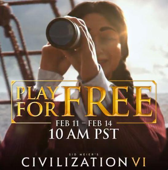 Juegue Civilization VI GRATIS en Steam del 11 al 14 de febrero.