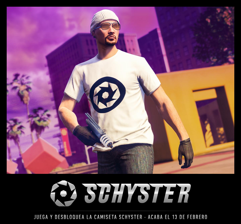 GTA ONLINE: Camiseta Schyster gratis para el juego iniciando sesión antes del 13/02