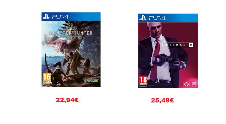 [Bajada de precio] Hitman 2 (25,49€) Monster Hunter World (22,94€) (PS4)