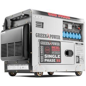 Generador electrico silencioso monofasico motor diesel potencia 420cc- Greencut
