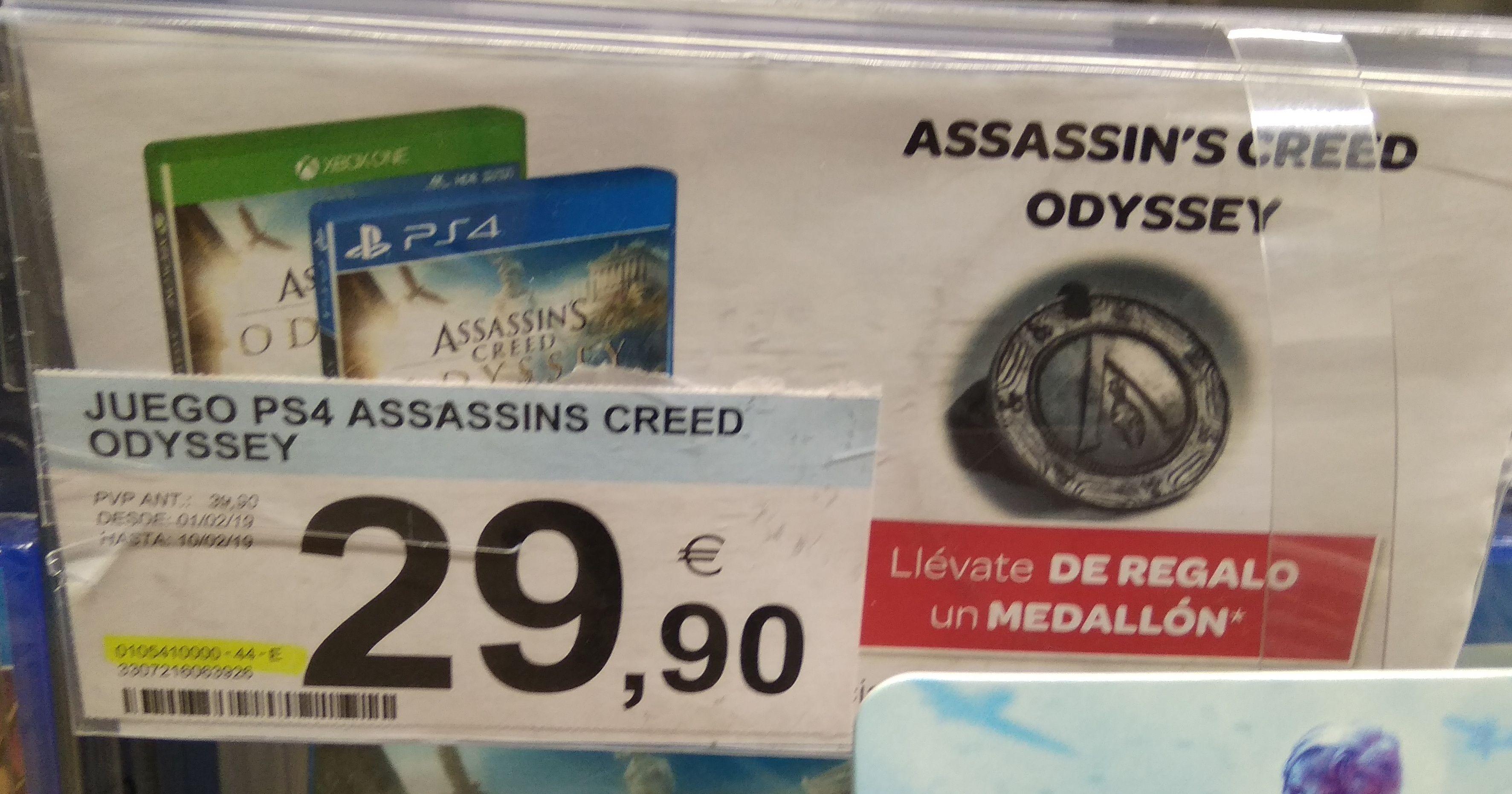 Assassin's Creed Odyssey (PS4, XB1) + medallón de regalo (Carrefour Madrid Mar de Cristal)