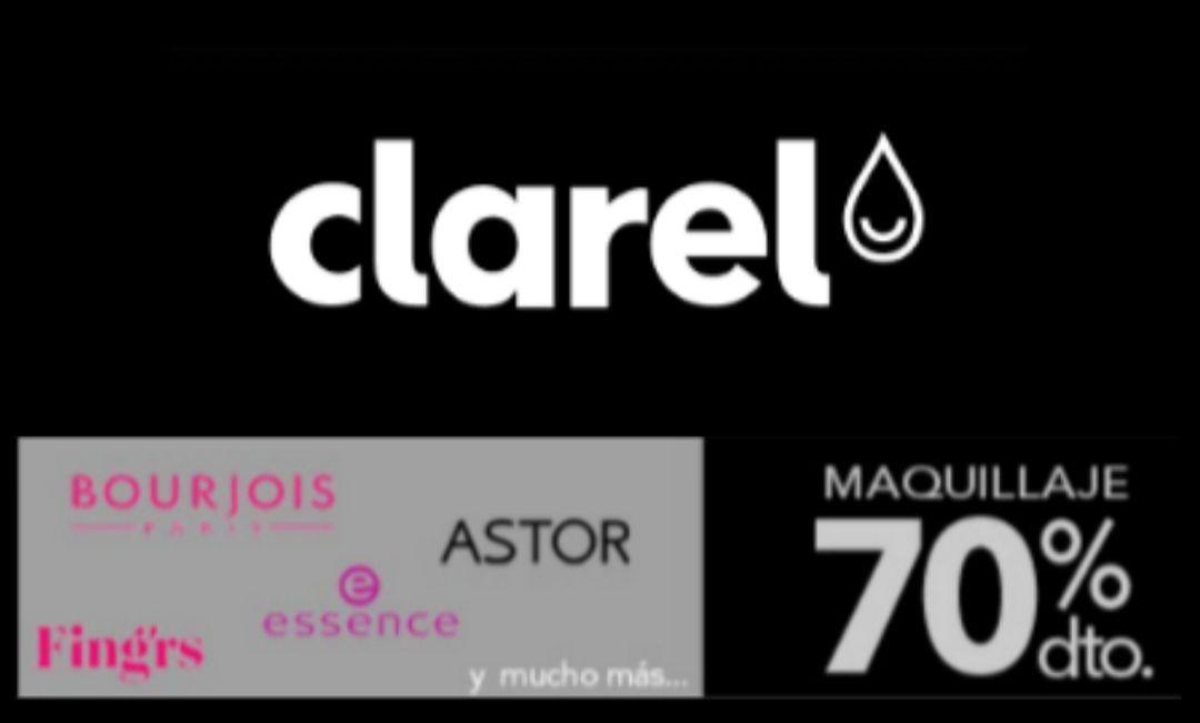 Clarel 70% dto. en maquillaje y cosmética