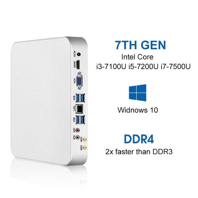 Mini PC  i3-7100U 8 GB DDR4 120G SSD Windows 10