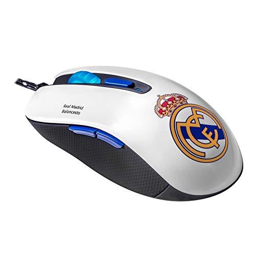 Ratón óptico Mars Gaming MMRM del Real Madrid (3200 DPI, 6 botones)