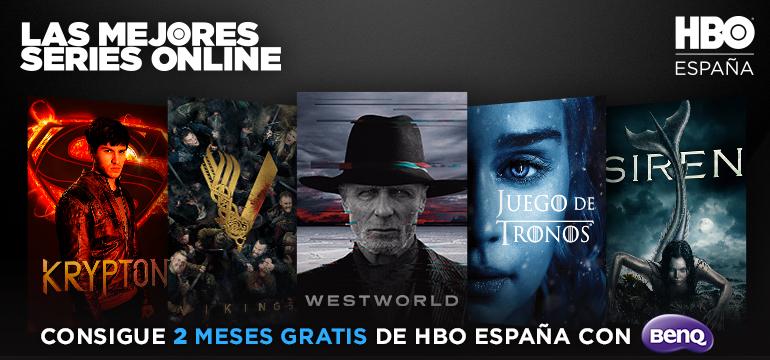 2 meses gratis de HBO al comprar productos Benq