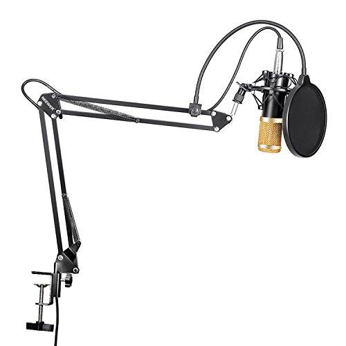 Kit Microfono con soporte y filtro anti-pop