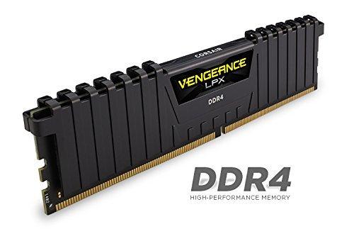 Corsair VENGEANCE® LPX 16GB (2 x 8GB) DDR4 DRAM 3000MHz C15 Memory Kit - Black