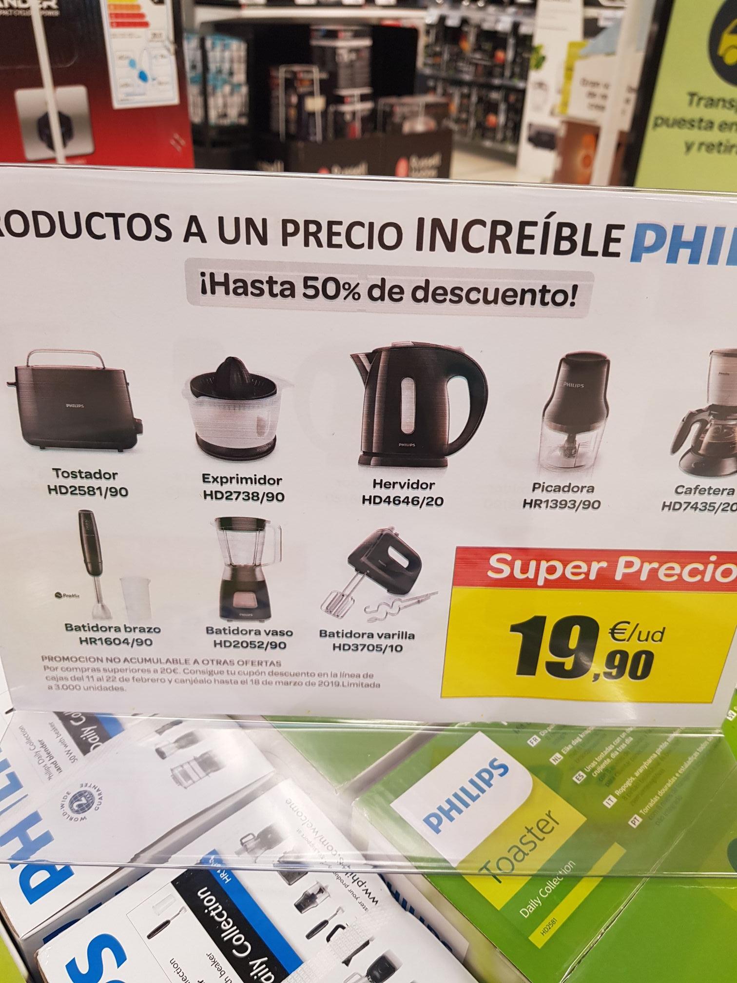 Todos los productos Philips de la foto en Carrefour