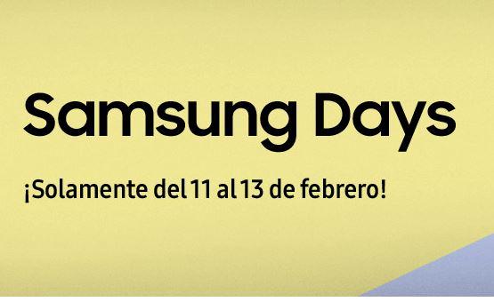Samsung Days del 11 al 13 de febrero (-250€)