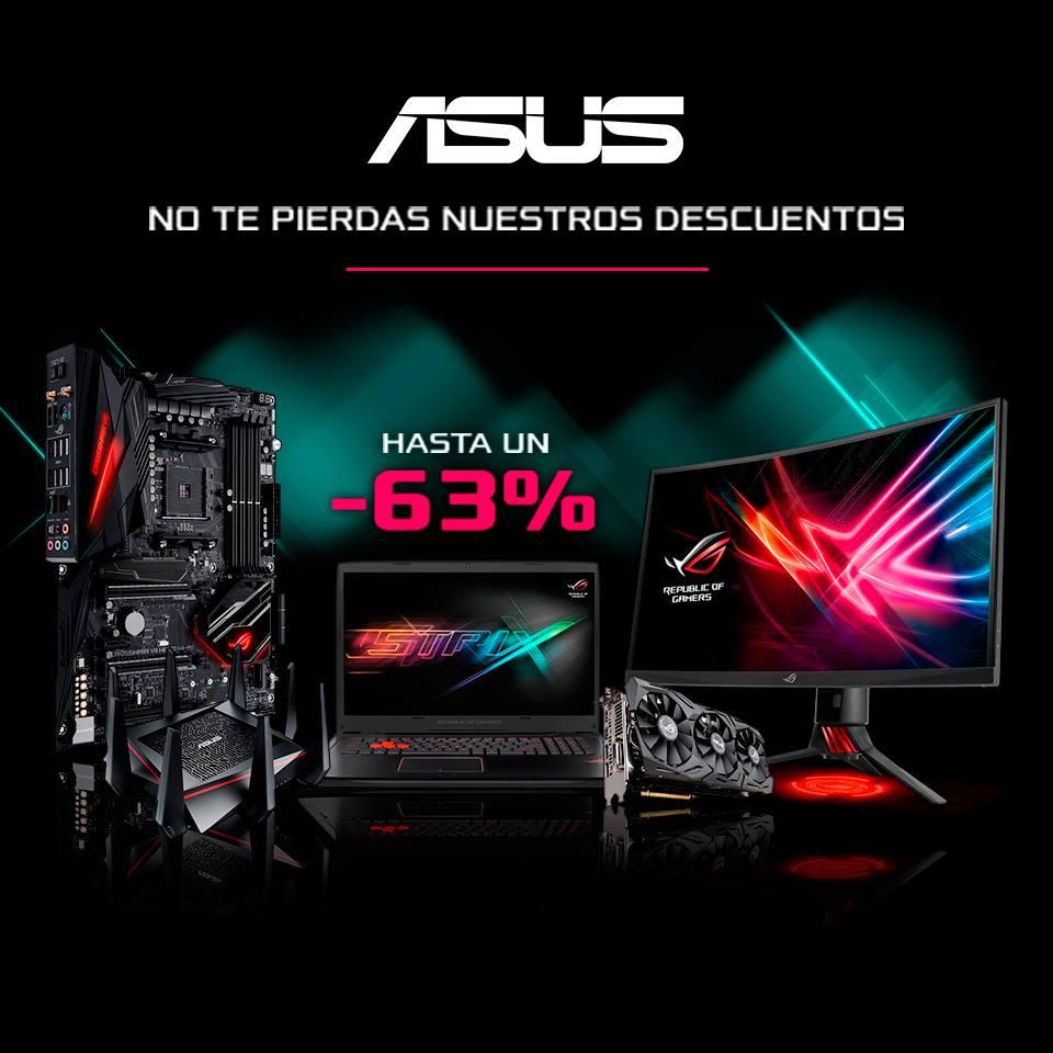 ¡Descuentos de hasta el -63% en productos ASUS!
