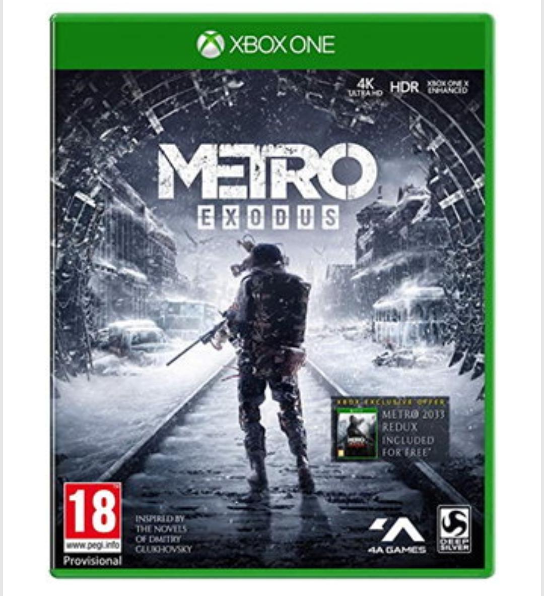 Metro Exodus para xbox one desde uk.