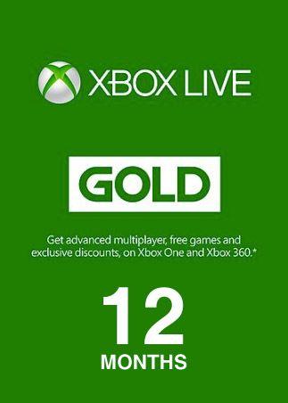 Xbox Live Gold 12 meses Xbox Live