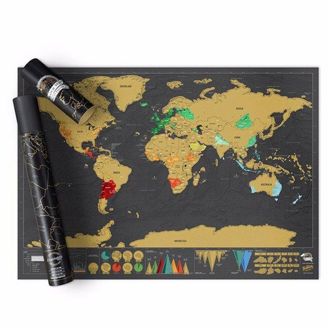 Mapa del mundo para rascar países (Desde España)