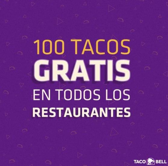Tacos GRATIS!! Taco bell