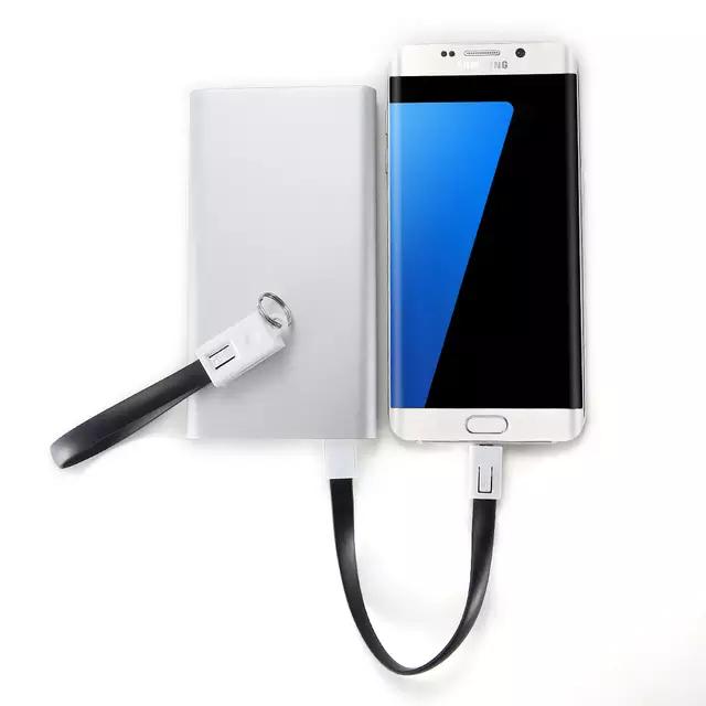 LLavero con cable de carga micro USB o lightning