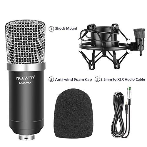 Juego profesional de micrófono condensador