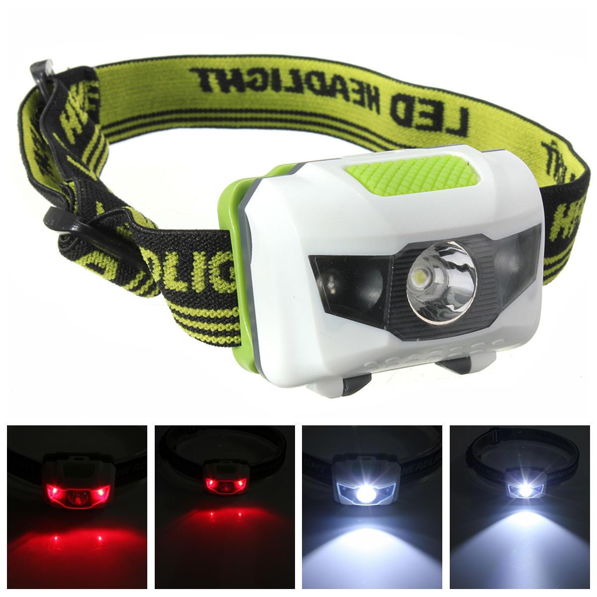 Linterna frontal LED XANES de 1200 Lúmenes 4 Modos R3+2LED