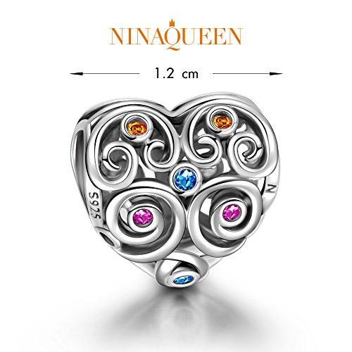 NinaQueen Amor eterno Abalorio de mujer de plata