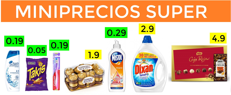 Cientos de miniprecios de supermercado