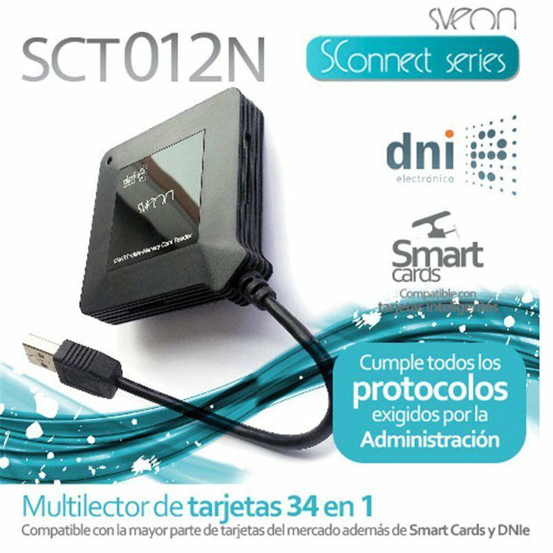 Multilector de Tarjetas compatible con DNI 3.0 Sveon SCT012N